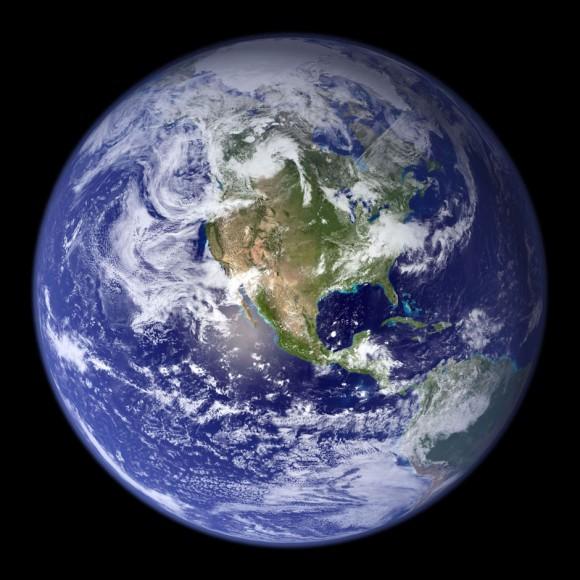La Tierra en diciembre de 1972. Foto: NASA