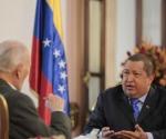 Hugo Chávez y José Vicente Rangel