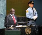 El presidente de Guinea-Bissau, Malam Bacai  Sanha en ONU. Foto: AP