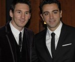Leo Messi junto a Xavi Hernández en la gala de entrega del Balón de Oro. Foto: Mundodeportivo.es