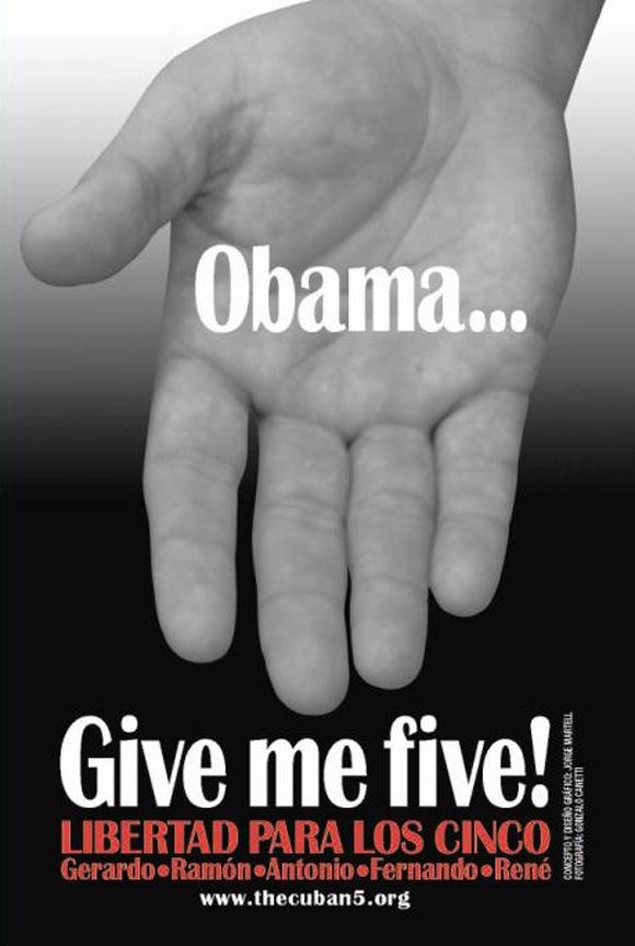 El cartel de la campaña Give me five!