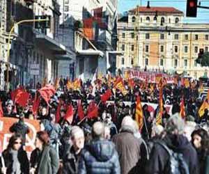 Protestas en Italia