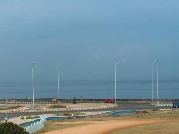 Scarabeo-9 desde el Malecón. Foto: Ivan Ferrer Arenas/ Twitter