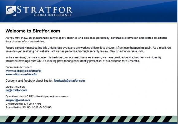 Stratfor, una consultora con sede en Texas que se especializa en asuntos de política exterior y seguridad.