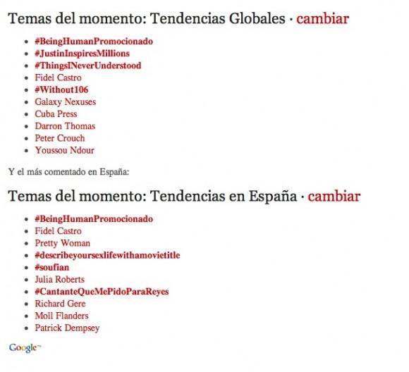 """La etiqueta #FidelCastro """"Tema del momento"""" en Twitter el pasado 2 de enero"""