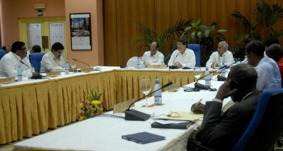 Comenzó la 8 Reunión del Consejo Político de la Alianza Bolivariana para los Pueblos de América (ALBA), en el Hotel Continental, La Habana, Cuba, el 15 de febrero de 2012. AIN FOTO/Arelys María ECHEVARRÍA RODRIGUEZ