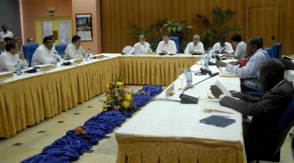 Comenzó la 8 Reunión del Consejo Político de la Alianza Bolivariana para los Pueblos de América (ALBA), en el Hotel Continental, La Habana, Cuba, el 15 de febrero de 2012. AIN FOTO/Arelys María ECHEVARRÍA RODRIGUEZ/