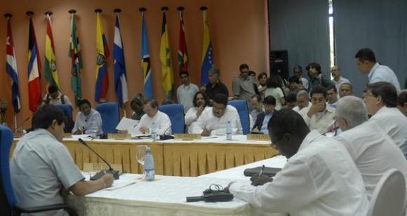 Comenzó la 8 Reunión del Consejo Político de la Alianza Bolivariana para los Pueblos de América (ALBA), en el Hotel Continental, La Habana, Cuba, el 15 de febrero de 2012. AIN FOTO/Arelys María ECHEVARRÍA RODRIGUEZ/T