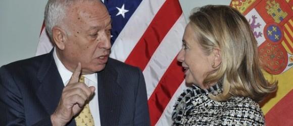 García-Margallo: «Le dije a Hillary Clinton: ¡España ha vuelto!» Foto: EFE