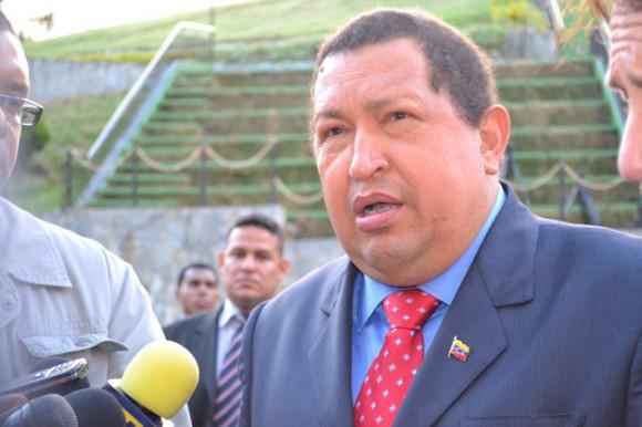 Hugo Chávez y Sean Penn en Miraflores.
