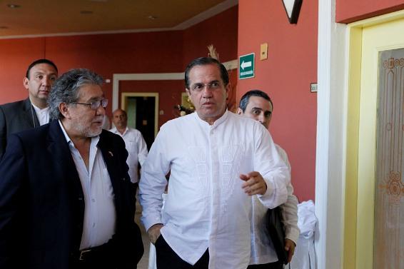 El canciller de Ecuador Ricardo Patiño, en la reunión de Cancilleres del ALBA en La Habana. Foto: Yenny Muñoa/ CubaMinrex