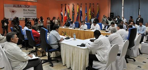 Reunión de Cancilleres del ALBA en La Habana. Foto: EFE