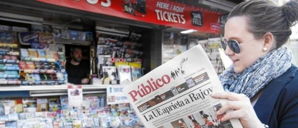 Desaparece la edición en papel del diario Publico. Foto: Cristina Bejarano/ La Razón