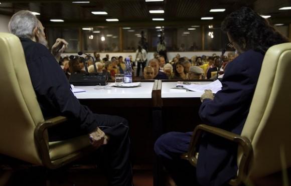 Fidel Castro en el encuentro con intelectuales. Foto: Roberto Chile/ Cubadebate