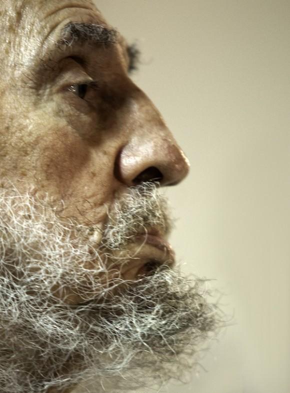Fidel Castro en el encuentro con intelectuales. Foto: Roberto Chile