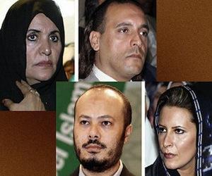 Familiares de Gadafi en Argelia.