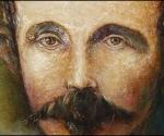 """José Martí. Ilustración de José Luis Fariñas con el título """"Yugo y estrellas"""""""