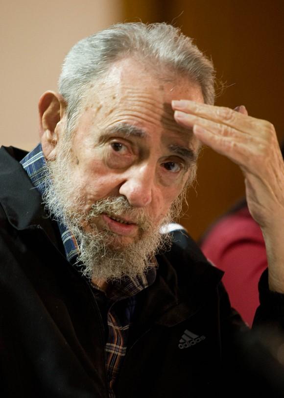 Fidel en la presentación del libro de Katiuska Blanco: Guerrillero del tiempo. Foto: Alex Castro