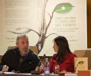 """Fidel Castro presenta el libro de memorias """"Guerrillero del tiempo"""", de Katiuska Blanco, que recoge las conversaciones del líder de la Revolución con la periodista y escritora. Foto: Alex Castro"""
