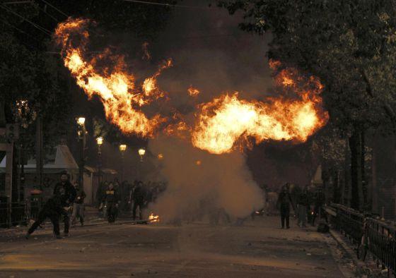 Protestas en Grecia. Foto: El País.