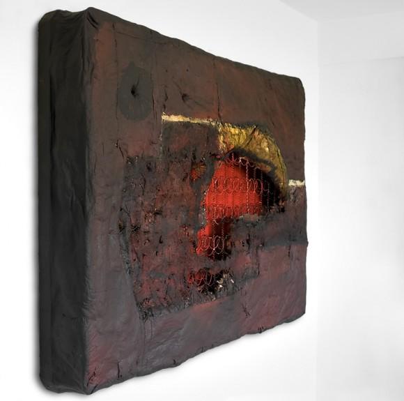 Jorge Luis Santos Malditos sueños 2011 mixta-colchón 132 x 193 x 24 a (RGB)