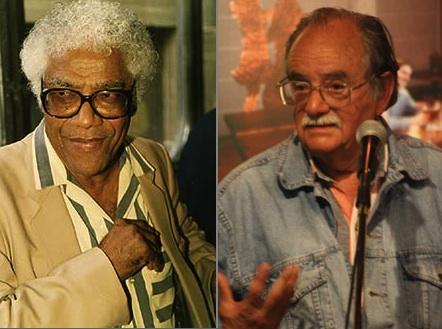 El escritor barbadense George Lamming y el teatrista colombiano Santiago García