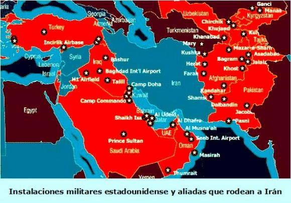 Resultado de imagen de iran bases militares