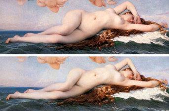 El nacimiento de Venus de Alexandre Cabanel y su adaptación a los cánones estéticos actuales según la artista Ana Utopia Ana Utopia
