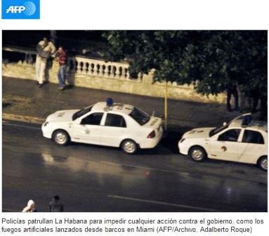La foto con que AFP acreditó la represión en Cuba el pasado diciembre.