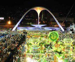 El sambódromo, sede del desfile de escuelas de samba