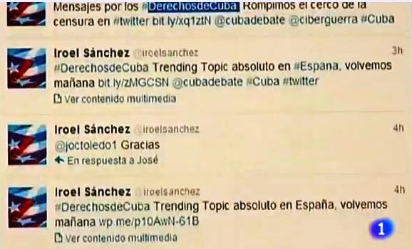 """TL del editor de """"La pupila insomne"""" en el reporte de Sagrario Mascaraque en el Canal 1 de TVE"""
