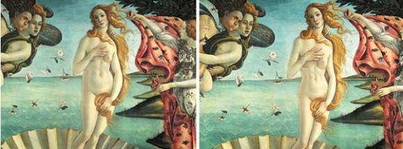 Adaptación del cuadro el nacimiento de Venus de Boticelli a los cánones estéticos actuales, según la artista Ana Utopia Ana Utopia