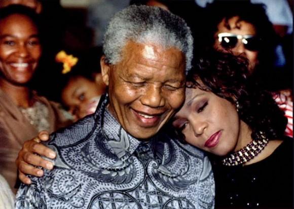 Con Mandela. Foto: Reuters