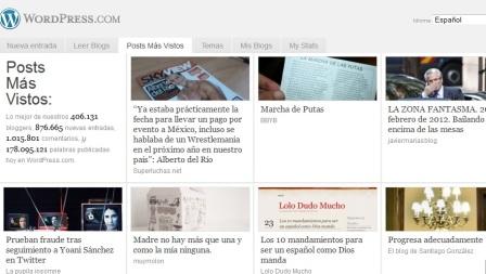 """El post con el texto de Lamrani en """"La pupila insomne"""" en cuarto lugar este lunes entre más de 800 000 posts de WordPress en español."""
