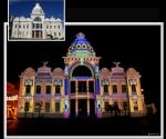 Arte luz, Palacio Río Branco, Salvador de Bahía, Brasil