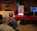 Sala de prensa en el Hotel Nacional para la visita del Papa. Foto: Calixto Llanes vía @calixtollanes