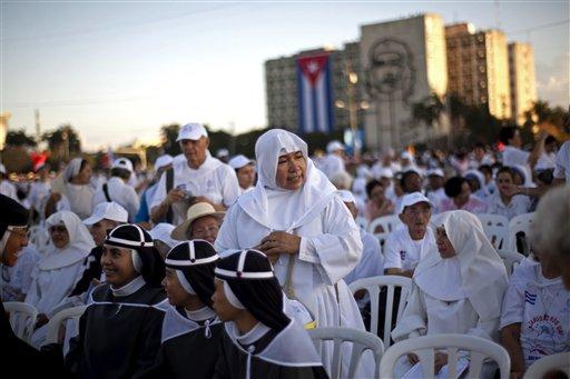 Una imagen de la Plaza de la Revolución. Foto: AP