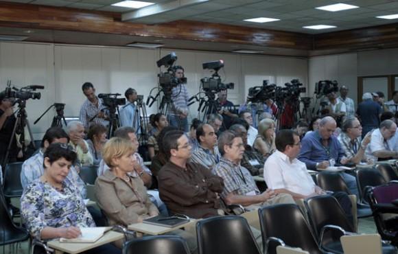 Bruno Rodríguez hoy en Conferencia de Prensa en La Habana. Foto: Ismael Francisco/ Cuba