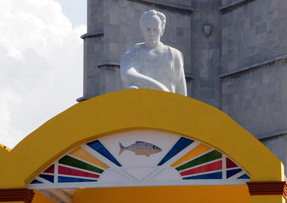Altar en la Plaza de la Revolución. Foto Cubadebate