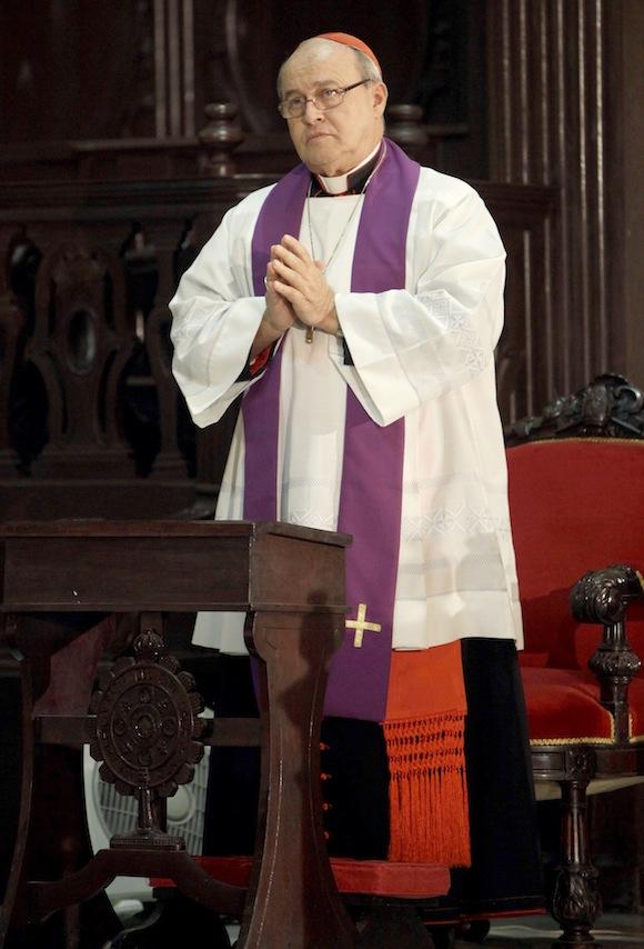 Cardenal Ortega exhortó a dar la mejor acogida al Papa
