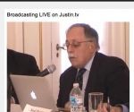 José Pertierra durante la presentación en Washington