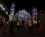 Luces en la Catedral de La Habana. Foto: Enrique de la Osa/ Reuters