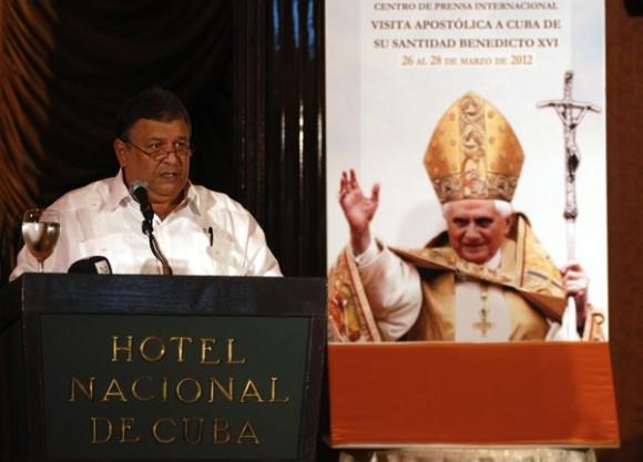 Marino Murillo en Conferencia de Prensa. Foto: Calixto Llanes via @calixtollanes