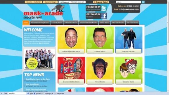 Máscaras que promueve Mask-arade.com, la productota de las máscaras con el rostro de Laura Pollán que promete