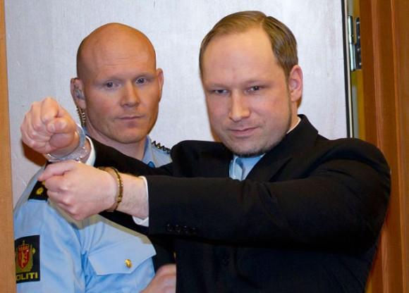 El nazi Anders Behring Breivik. Foto: AFP