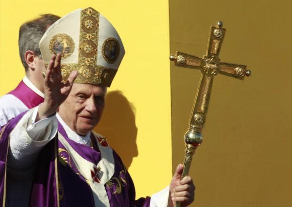 El Papa Benedicto XVI en la Plaza de la Revolución. Foto: AP