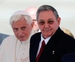 Benedicto XVI y Raúl Castro. Foto: REUTERS/Desmond Boylan