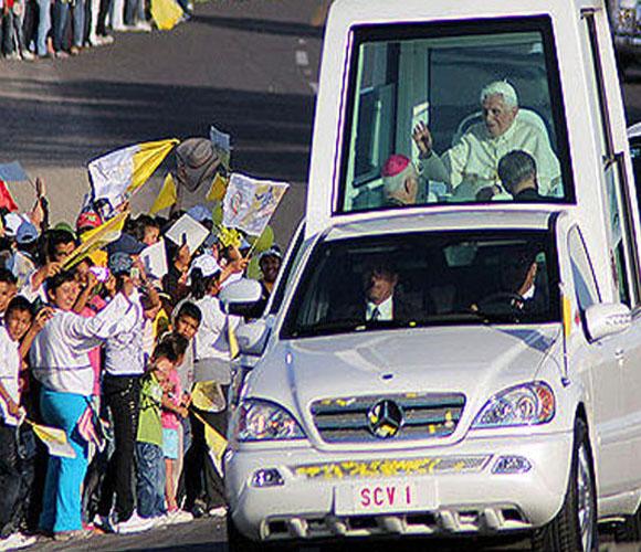 Recorrido del Papa por México