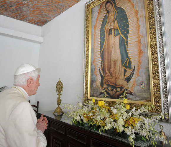 Benedicto XVI en Guanajuato. Foto: AP