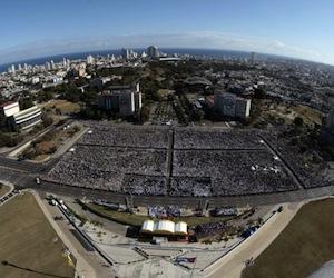 Plaza de la Revolución durante la Misa de Benedicto XVI. Foto: Ismael Francisco